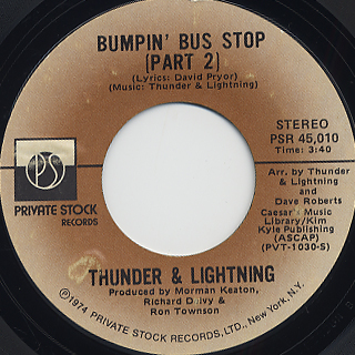 Thunder and Lightning / Bumpin' Bus Stop c/w (Part II) back