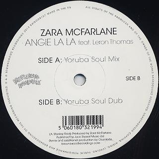 Zara McFarlane / Angie La La Feat Leron Thomas (Yoruba Soul Mixes) back