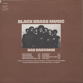 Bad Bascomb / Black Grass Music back