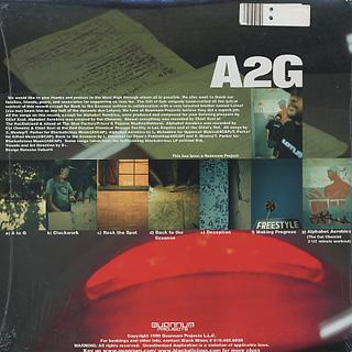 Blackalicious / A2G EP (Quannum) back
