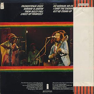Bob Marley And The Wailers / Live! back