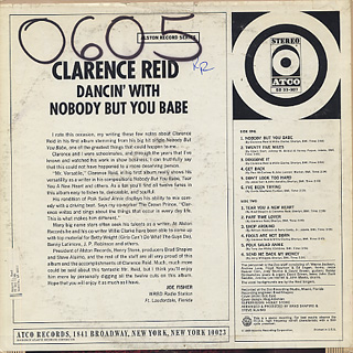 Clarence Reid / Dancin' With Nobody But You Babe back