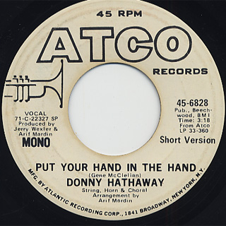 Donny Hathaway / Put Your Hand In The Hand back