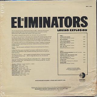 Eliminators / Loving Explosion back