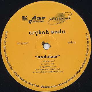 Erykah Badu / Baduizm back