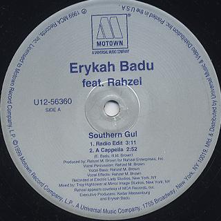 Erykah Badu / Southern Gul back