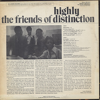 Friends Of Distinction / Highly Distinct back