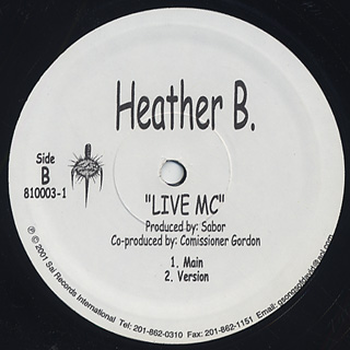 Heather B. / Live MC back