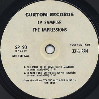 Impressions / LP Sampler back
