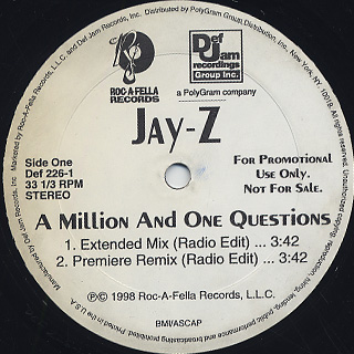 Jay-Z / A Million And One Questions back