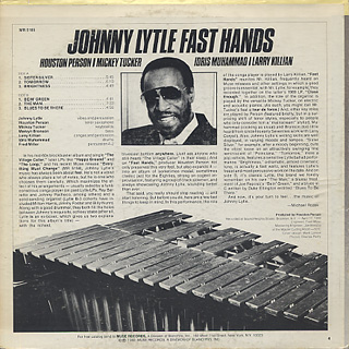 Johnny Lytle / Fast Hands back