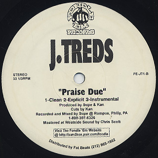 J.Treds / Make It Happen c/w Praise Due back