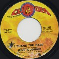 June & Donnie / I Thank You Baby / What's This I See