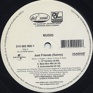 Musiq / Just Friends (Sunny) front