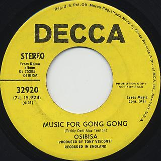 Osibisa / Music For Gong Gong back
