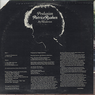 Patrice Rushen / Prelusion back