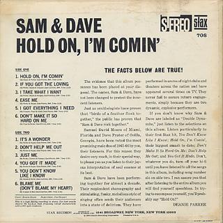 Sam & Dave / Hold On, I'm Comin' back