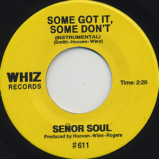 Senor Soul / It's Your Thing back