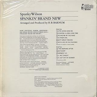 Spanky Wilson / Spankin' Brand New back