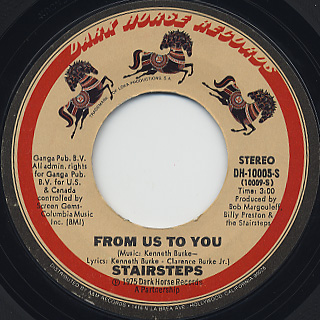 Stairsteps / Time c/w From Us To You back