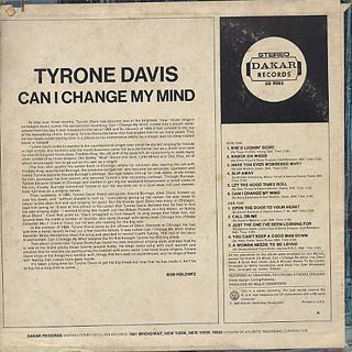 Tyrone Davis / Can I Change My Mind back