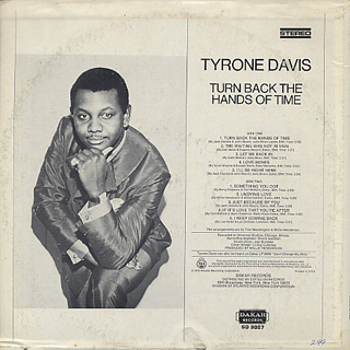 Tyrone Davis / Turn Back The Hands Of Time back