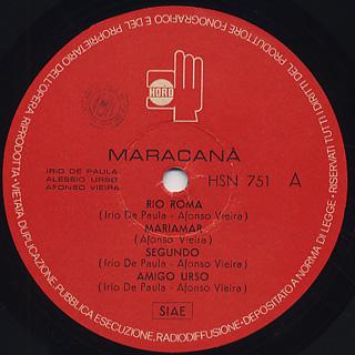 V.A.(Irio De Paula, Alessio Urso, Afonso Vieira) / Maracana label