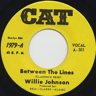 Willie Johnson / Between The Lines c/w It's Got To Be Tonight front