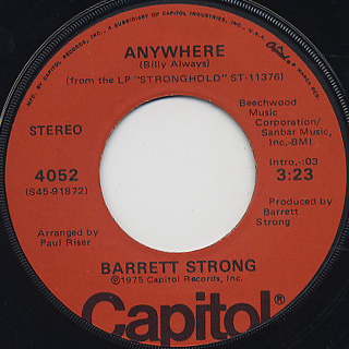 Barrett Strong / Is It True c/w Anywhere back