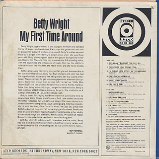 Betty Wright / My First Time Around back