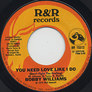 Bobby Williams / Everybody Needs Love Sometime back
