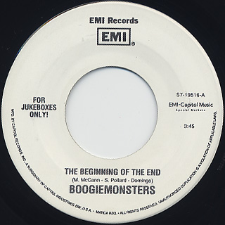 Boogiemonsters / The Beginning Of The End c/w God Sound