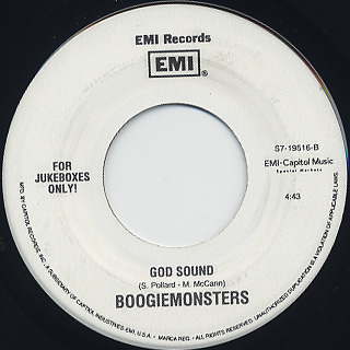 Boogiemonsters / The Beginning Of The End c/w God Sound back