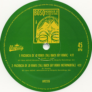 Bosq Of Whiskey Barons Ft. Tall Black Guy / Paciencia De Jo Remix front