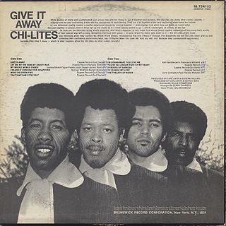 Chi-Lites / Give It Away back