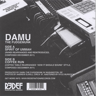 Damu The Fudgemunk / Spirit of Ummah b/w Coffee Run back