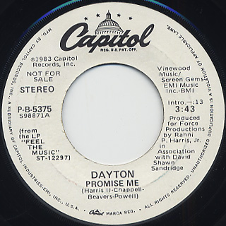 Dayton / Promise Me back
