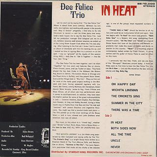 Dee Felice Trio / In Heat back