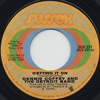 Dennis Coffey / Ride, Sally, Ride back