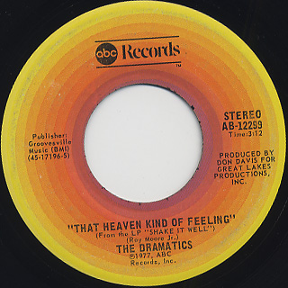 Dramatics / That Heaven Kind of Feeling front