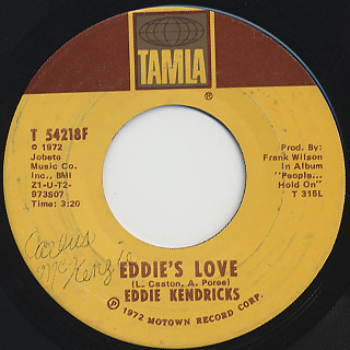 Eddie Kendricks / Let Me Run Into Your Lonely Heart back