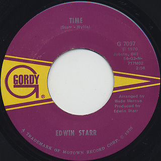 Edwin Star / Time c/w Running Back And Forth