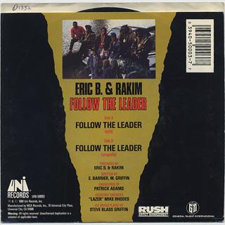 Eric B. & Rakim / Follow The Leader (Picture Sleeve) back