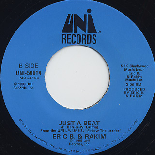 Eric B. & Rakim / The R c/w Just A Beat back