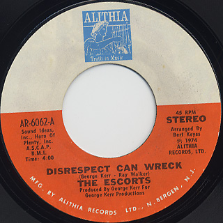Escorts / Disrespect Can Wreck c/w All We Need