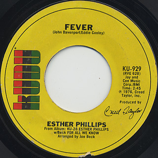 Esther Phillips / Fever c/w For All We Know