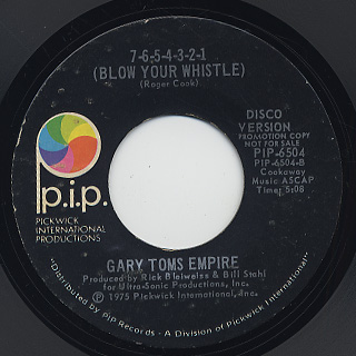Gary Toms Empire / 7-6-5-4-3-2-1 (Blow Your Whistle) back
