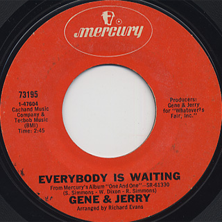 Gene & Jerry / Ten And Two (Take This Woman Off The Corner) back