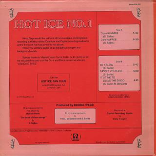Hot Ice / Hot Ice No.1 back