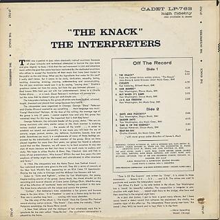 Interpreters / The Knack back